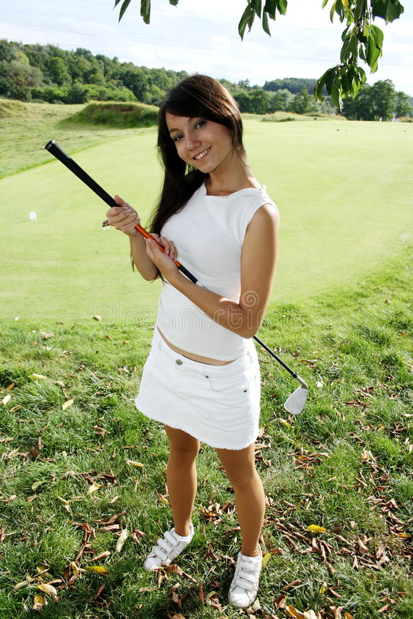 golfista dama fotografia royalty free