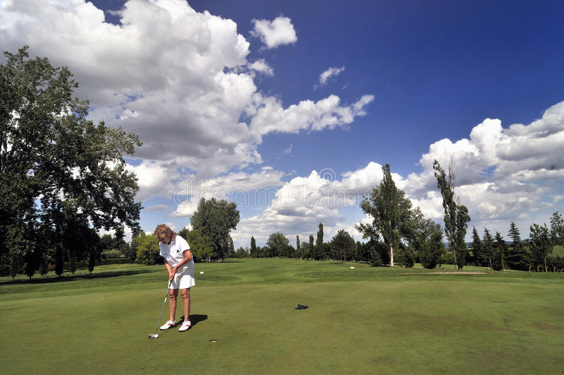 Golfista en Bolonia fotos de archivo libres de regalías