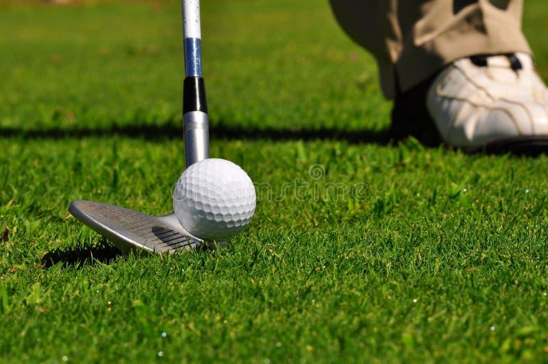 Golfista en un campo de golf fotos de archivo libres de regalías