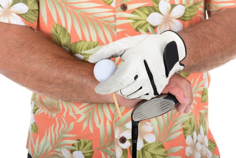 Download Golfista Jest Ubranym Hawajską Koszula Zdjęcie Stock - Obraz złożonej z druk, aktywność: 41953406