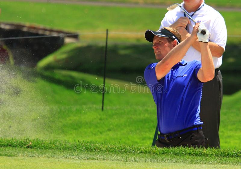 Golfista Luke Donald del mundo foto de archivo libre de regalías