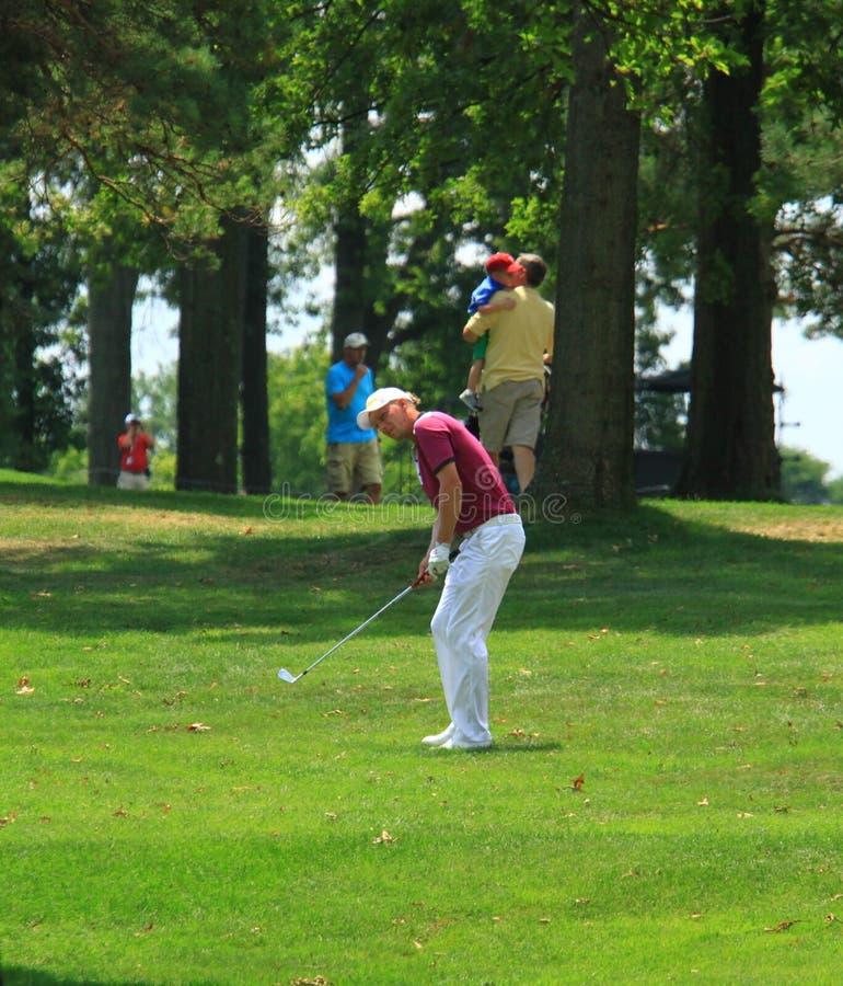 Golfista Marcel Siem imagen de archivo libre de regalías