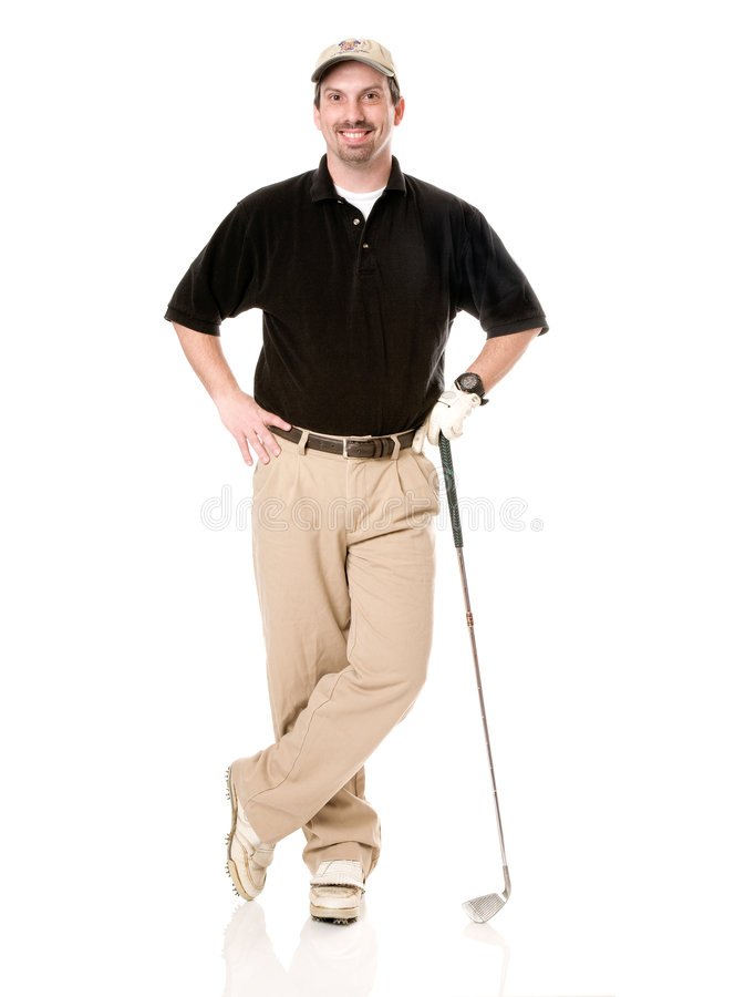 Golfista masculino fotos de archivo libres de regalías