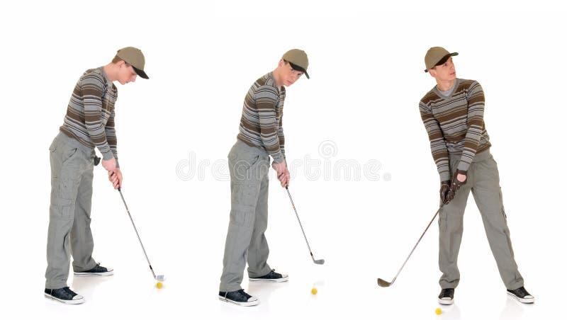 Golfista masculino joven foto de archivo libre de regalías