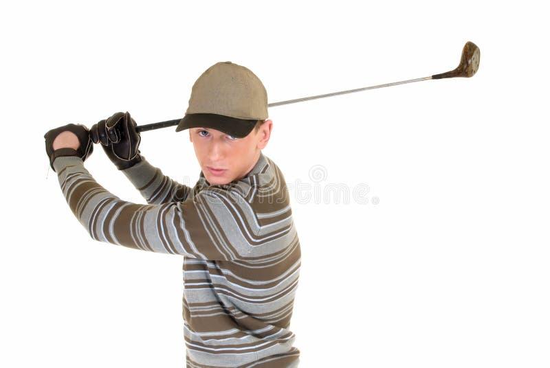 Golfista masculino joven imagen de archivo libre de regalías