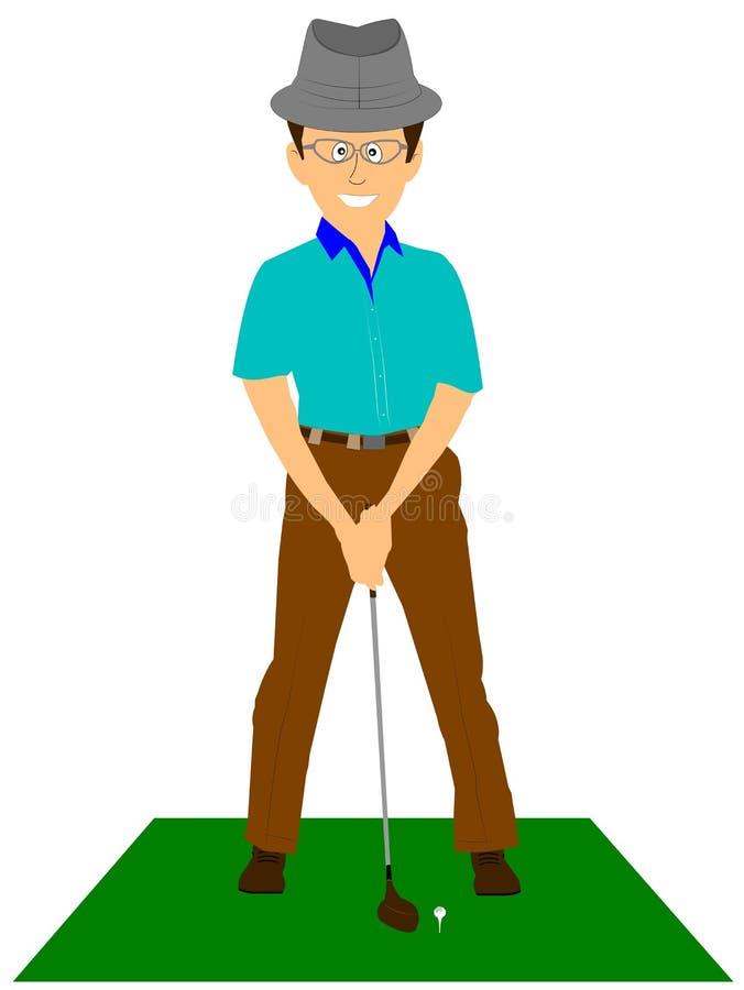 Golfista przy trójnikiem royalty ilustracja