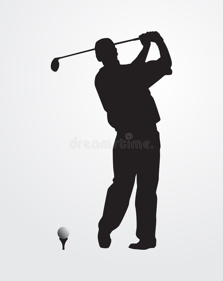 golfista sylwetka ilustracja wektor