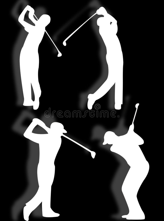 golfista sylwetka royalty ilustracja
