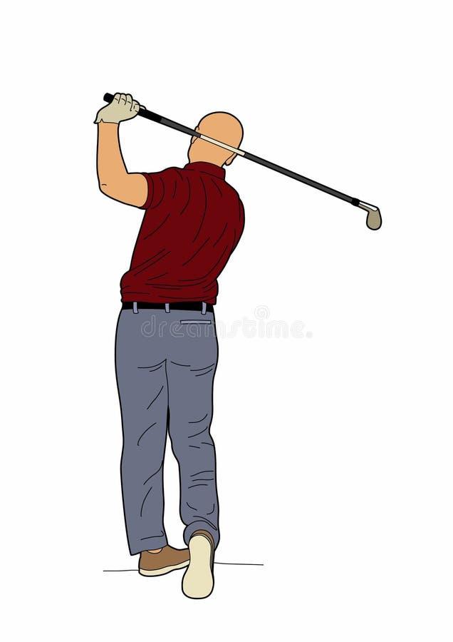 Golfisty plecy ilustracja wektor