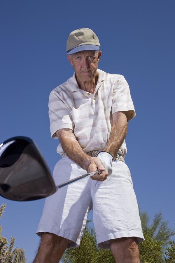 golfisty senior obrazy stock