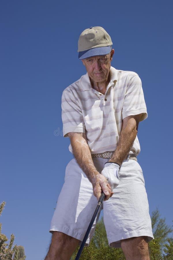 golfisty senior zdjęcie stock