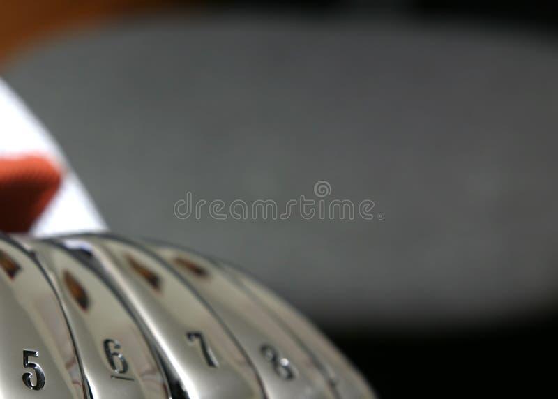 golfjärn royaltyfria bilder