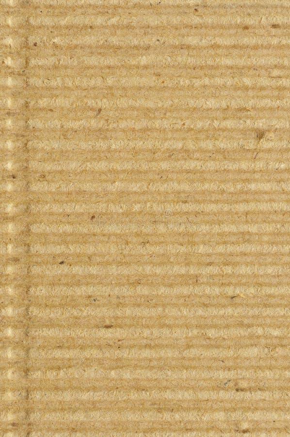 Golfkarton goffer document de textuur, heldere ruwe gerecycleerd oud goffered de geplooide geweven lege lege ruimte van het grung royalty-vrije stock foto