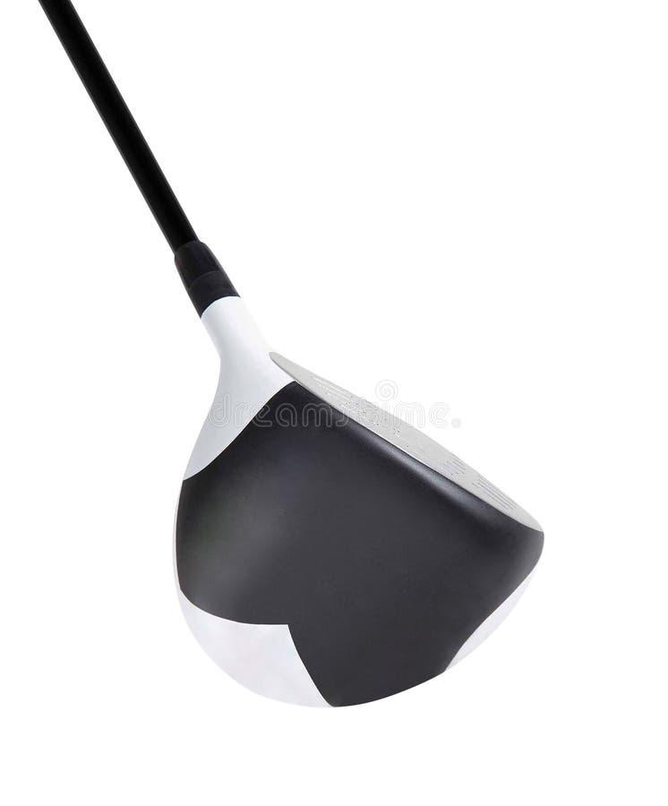 Golfklubb som isoleras på vit royaltyfri foto