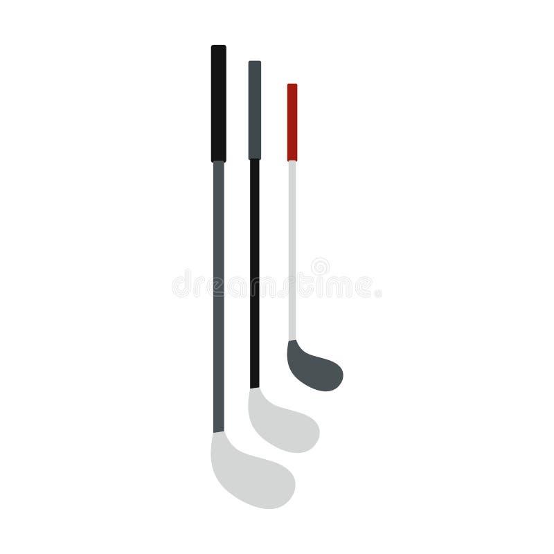 Golfklubbar sänker symbolen vektor illustrationer