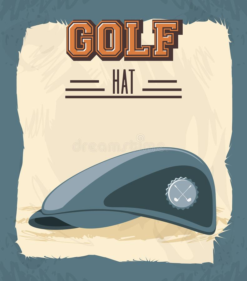 Golfklubbetikett med hatten stock illustrationer