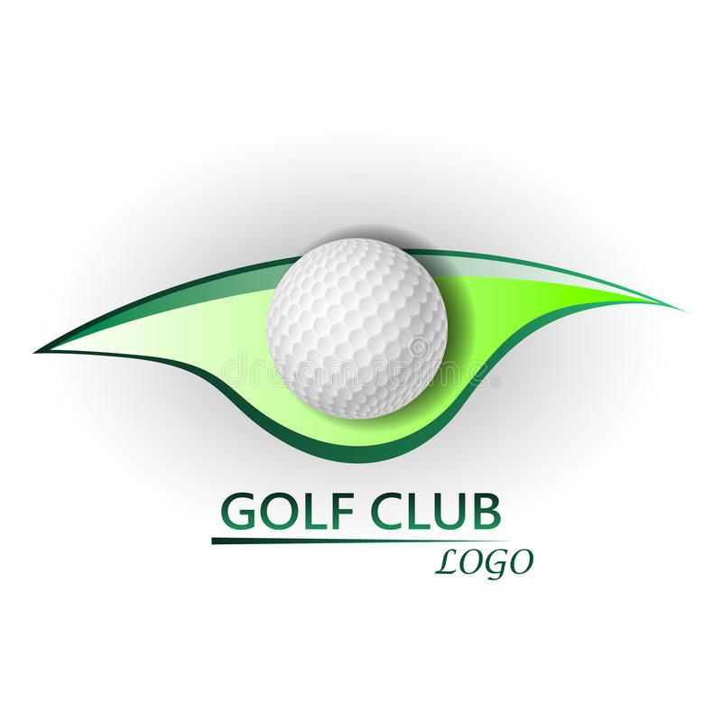 Golfklubblogo vektor illustrationer