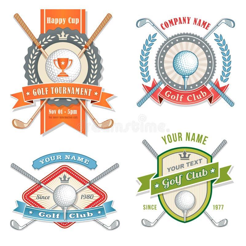 Golfklubblogoer vektor illustrationer