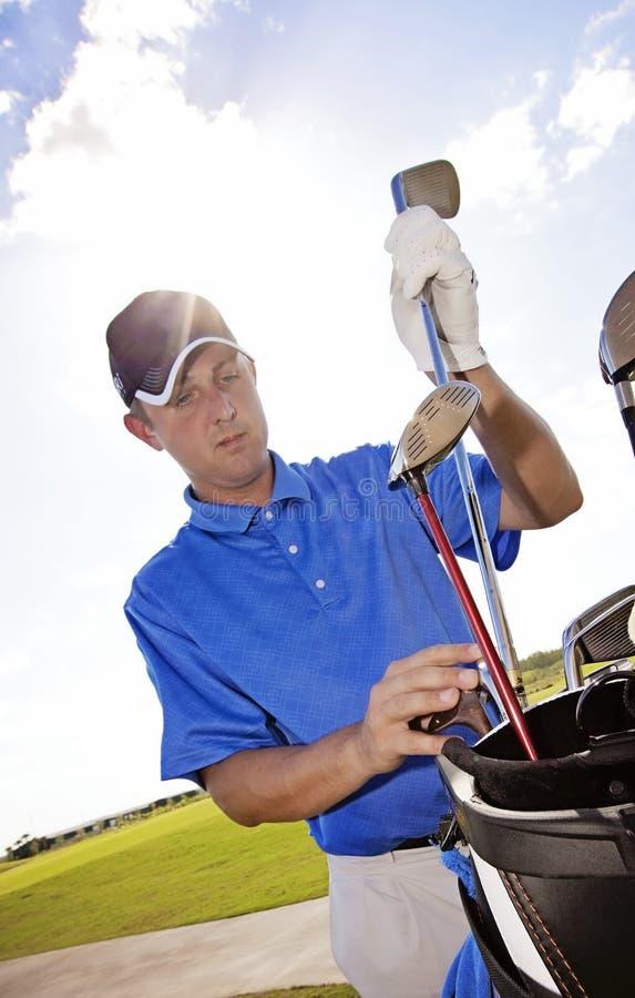 Golfklubbval arkivfoton