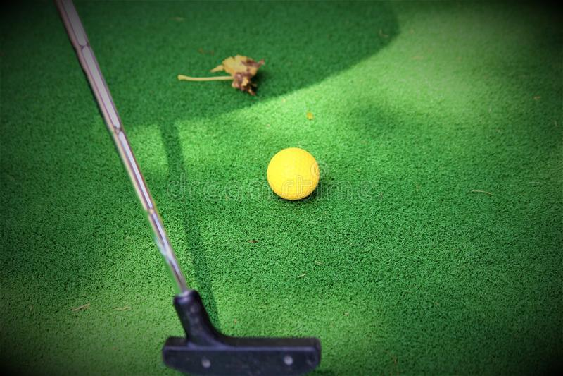 Golfkonzept stockfotos