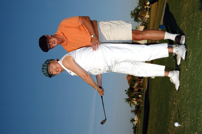 golfkurs royaltyfria bilder