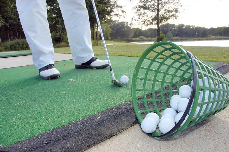 Golflektionen stockbilder