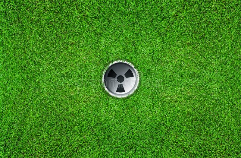 Golfloch auf grünem Gras des Golfplatzes lizenzfreie abbildung