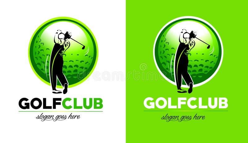 Golflogo vektor illustrationer
