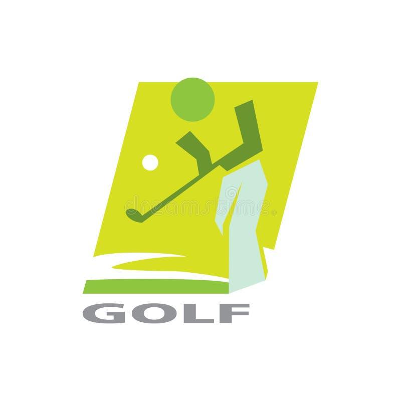 Golflogo für Turnierlogo stock abbildung