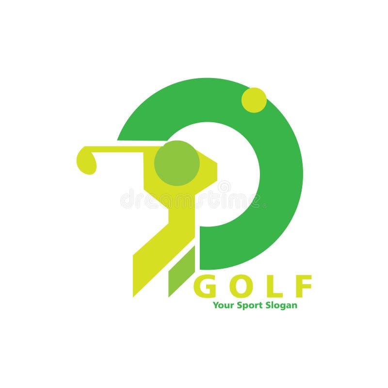 Golflogodesign royaltyfri illustrationer