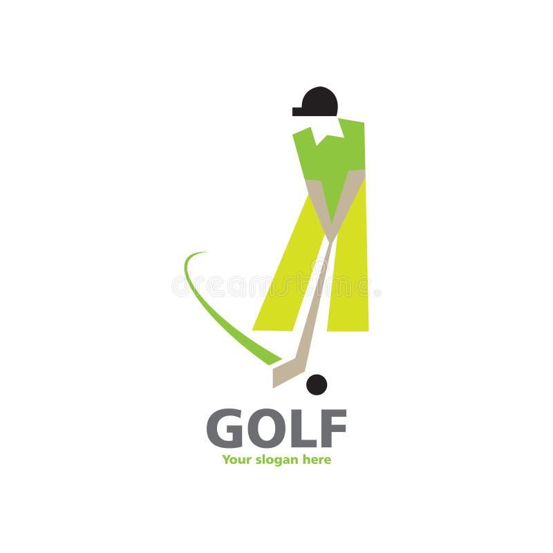 Golflogodesign stock abbildung