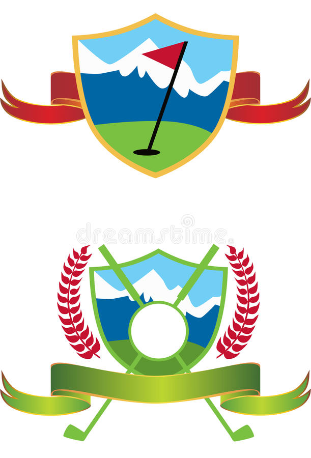 golflogoer stock illustrationer