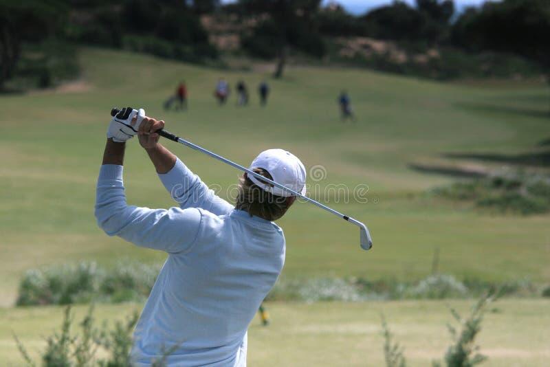 golfmanswing fotografering för bildbyråer