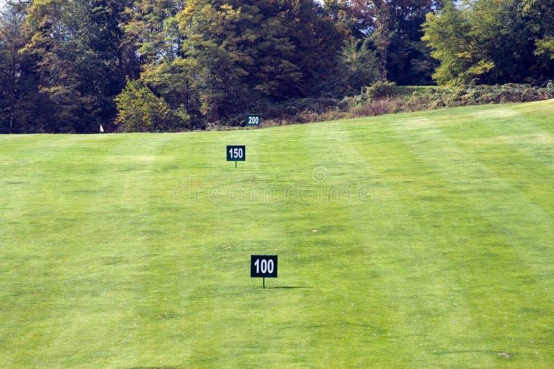 Golfmarkierungen stockfotos