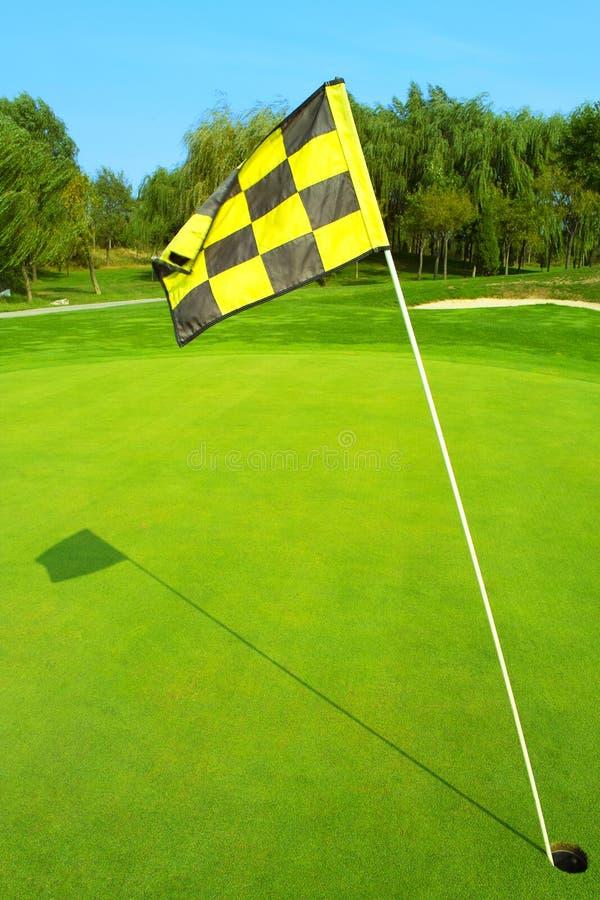 Golfmarkierungsfahne stockbilder