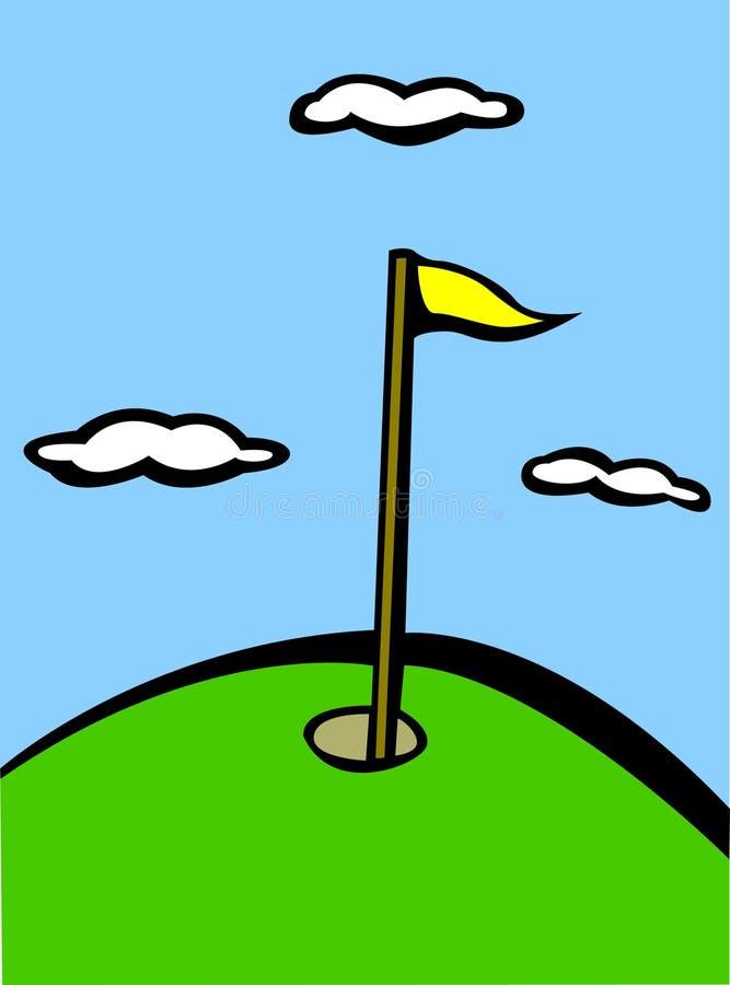Golfmarkierungsfahne vektor abbildung