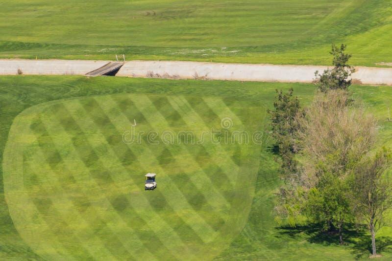 Golfmobilüberfahrt ein Golfplatz, Santa Teresa Park, San Jose, Kalifornien stockbild