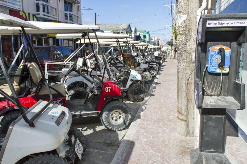 Golfmobil-Überfahrt stockbild