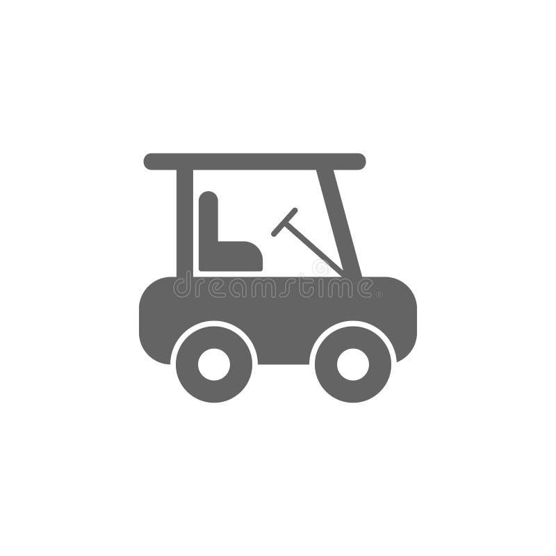 Golfmobilikone Element der einfachen Transportikone Erstklassige Qualit?tsgrafikdesignikone Zeichen und Symbolsammlungsikone f?r lizenzfreie abbildung