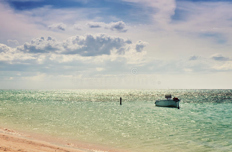 Golfo Cuba Océano Atlántico de Mexican del pescador del barco de mar imagen de archivo