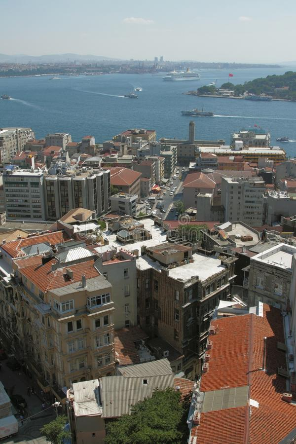 Golfo da cidade e do mar Istambul, Turquia fotos de stock