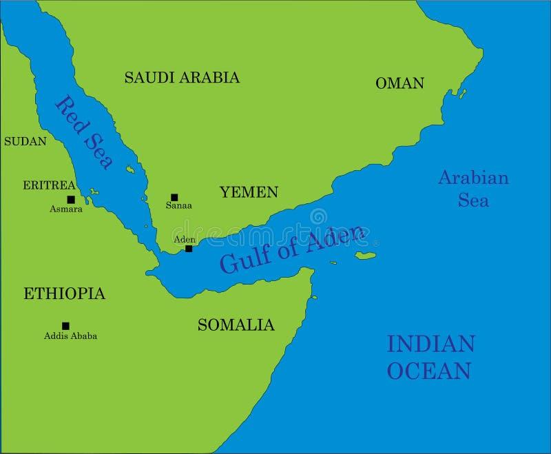 Golfo de la correspondencia de Aden libre illustration