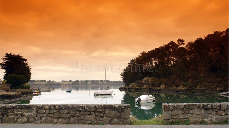 Golfo de Morbihan en Bretaña fotografía de archivo libre de regalías