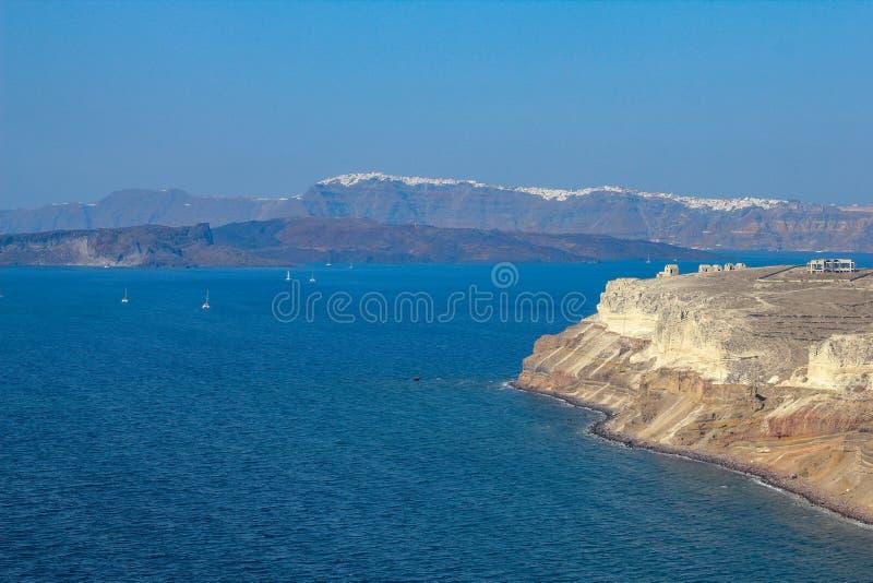 Golfo de Santorini fotos de archivo