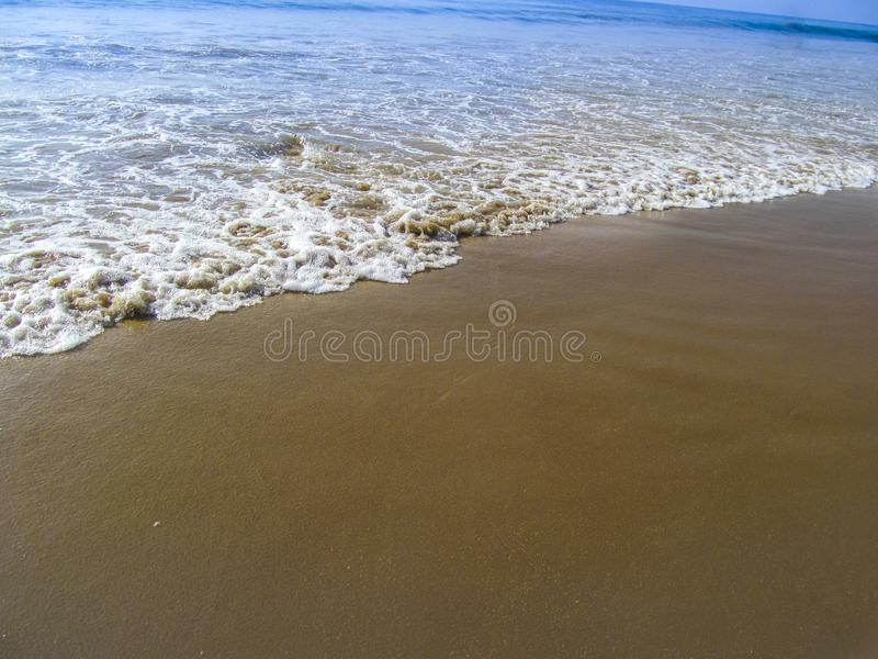 Golfo del bengala, costa di mare di Puri dell'India fotografie stock libere da diritti