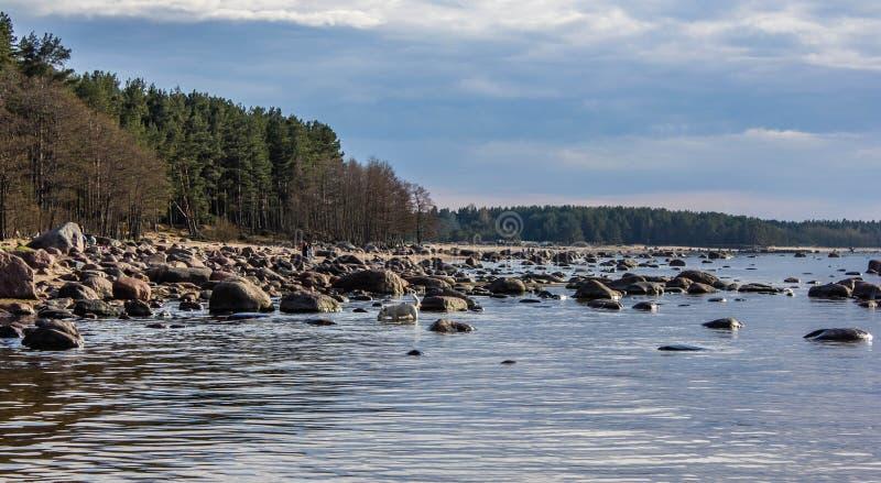 Golfo della Finlandia a St Petersburg fotografia stock