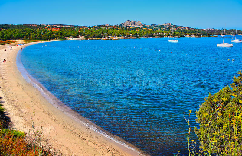 Golfo Delle Saline Beach Sardinia Italy fotografia de stock royalty free