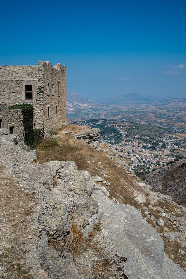 Golfo di Bonagia e di Monte Cofano Trapani, Sicilia, Italia fotografie stock