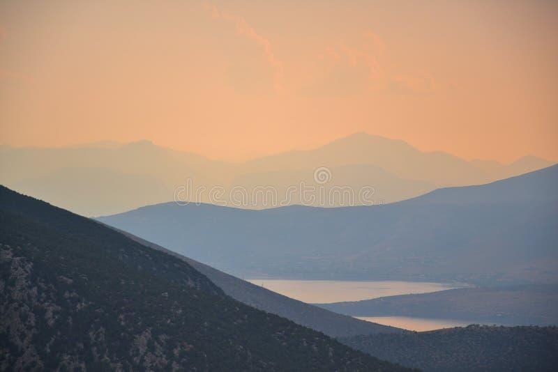 Golfo di Corinto immagini stock libere da diritti