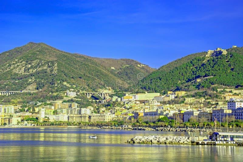 Golfo di Salerno sul mar Tirreno fotografia stock